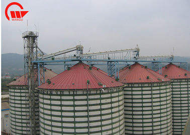 Fully Enclosed Automated Conveyor Systems , Grain Belt Conveyor For Storage Silo
